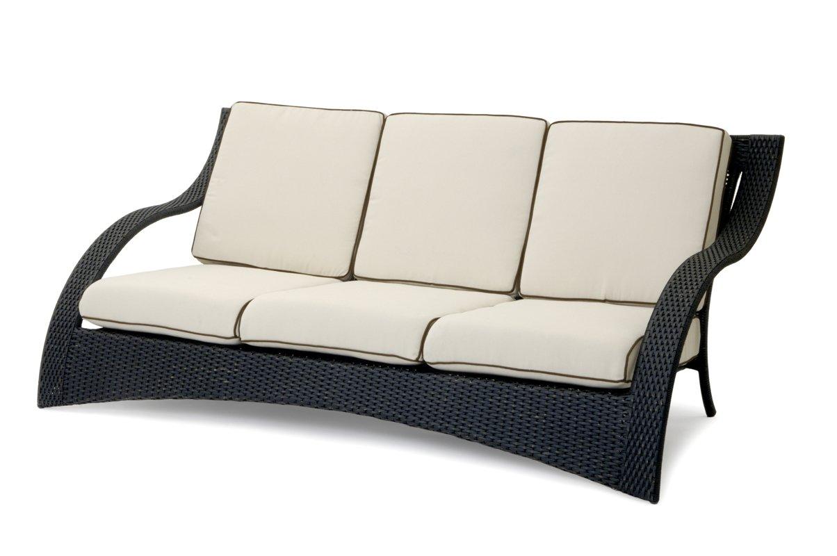 Garvida 3er Sofa Venezia - Farbe: Schwarz