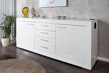 sideboard melody inklusive soundanlage hochglanz wei modoform dc31. Black Bedroom Furniture Sets. Home Design Ideas