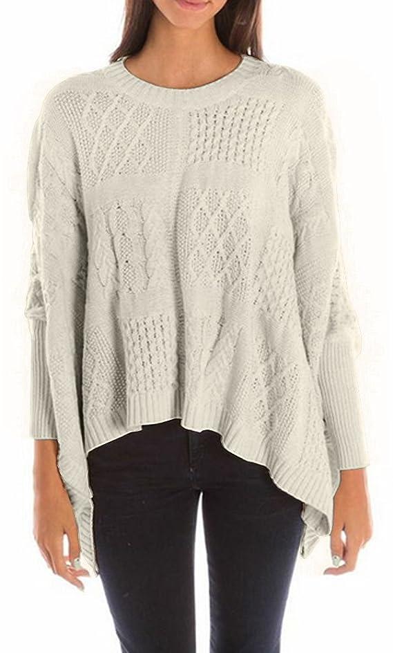 Acrobat L S Cable Crew Poncho Sweater *SALE*