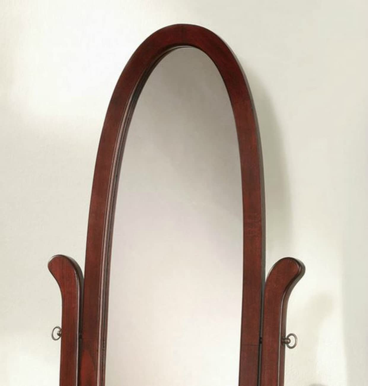 Wildon Home Cherry Full Length Standing Seatac Cheval Floor Mirror - This Oval Floor Mirror Is in Beautiful Contemporary Style and Is the Perfect Addition to Your Bedroom, Living Room, Family Room, Office or Any Other Room in You Home 3