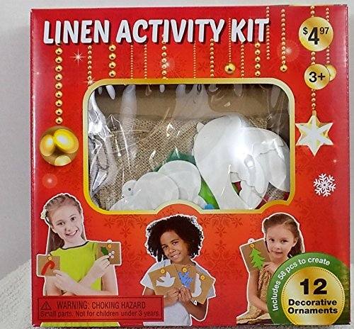 Child's Christmas Garland Linen Activity Craft Kit - 1
