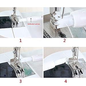 3 Pcs Household Sewing Machine Automatic Threader,Efficient Sewing Machine Threader, Quick Sewing Threader Loopers Household Sewing Machine Auto Threader Needle Changer (Color: 3pcs Blue, Tamaño: 7.5*1cm)