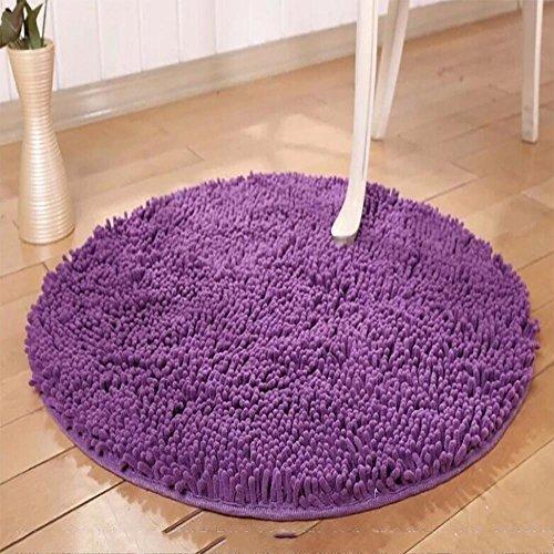 new-day-tapis-de-sol-tapis-rond-a-ultra-feuillet-lavable-purple-160160cm