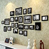 #9: Painting Mantra Art Street Extravagant Wall Hanging Individual Photo Frame- Set Of 23 (Multiple Size , Black)