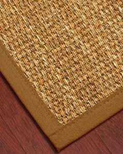 """Aspen"" Mountain Grass Rug / Sienna 6' x 9' - 100% Cotton Binding, Non Slip Latex Backing, Eco-Friendly (Custom Size, Shape and Border Available)"