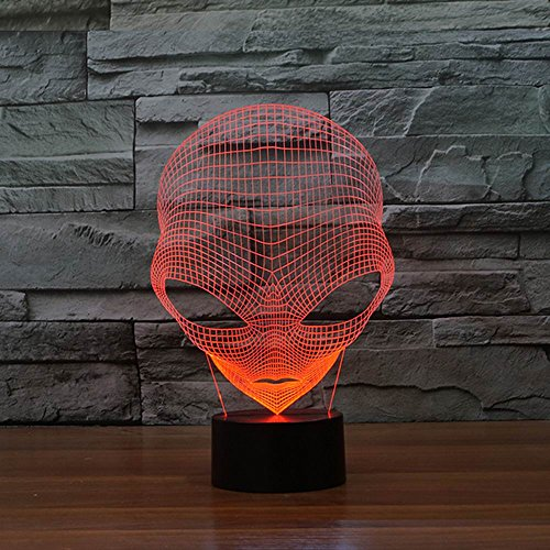 Alien Skull 3D Illusion Night Light, color changing