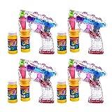 S/O® 4er Pack LED Seifenblasenpistolen incl. 2x50ml...
