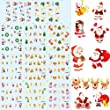 Yesurprise New Trendy mix 3D Christmas Nail Art Tips Pack Decal Wrap Water Transfer Stickers DIY Decoration Fashion Xmas Gift #9