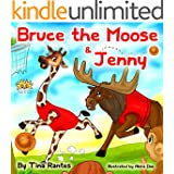 """Children's book:""""BRUCE THE MOOSE &JENNY""""Bedtime story(Book for kids)Beginner reader-values-Funny-Rhymes-read along-series-Animal habitats-Animal story:Mammal ... book-Early learning-picture book-Preschool"""