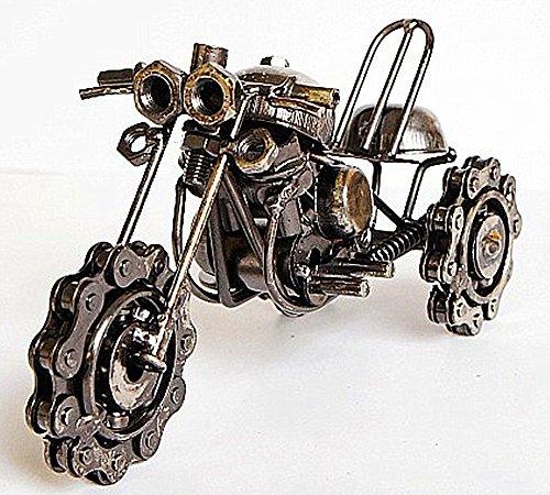 Zenness Handmade Metal Snow Motorcycle Model M61B / Metal Art Deco Collectibles Model (Black)