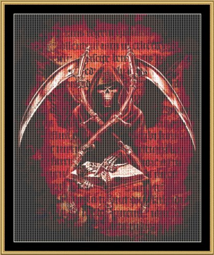 Cross Stitch Chart / Pattern (Stickvorlage / Muster) - BOOK OF DEATH [ PDF on a CD ] (PDF auf einer CD)