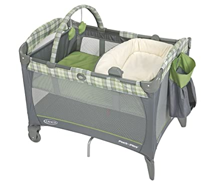 pack 39 n play playard with reversible napper and changer roman check