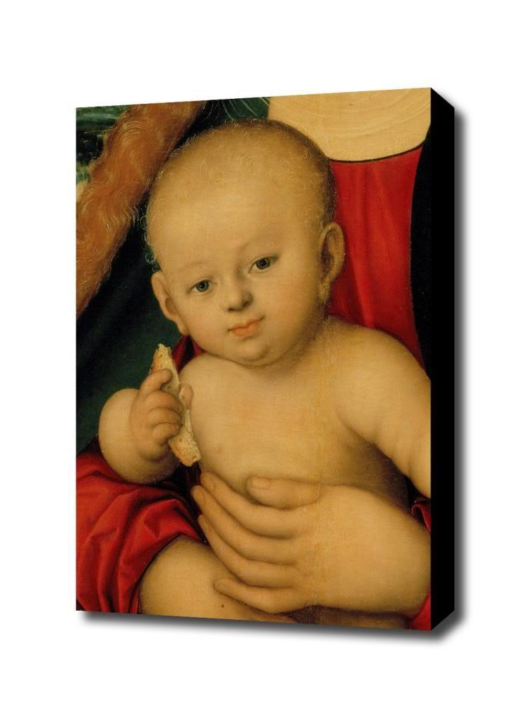 Lucas Cranach d. A. 031 Canvas Art Print, with 1.5 inch Deep Frame BLACK edge; 14 X 18 mcs 47335 multi purpose frame 14 by 18 inch black
