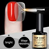 Matoen No-clean Steel Top Coat Long-lasting Soak-off LED UV Gel Color Hot Nail Gel 12ML (Color: Black, Tamaño: free size)