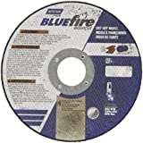 "Norton Blue Fire Rapid Cut Chop Saw Reinforced Abrasive Cut-off Wheel, Type 01 Flat, Zirconia Alumina and Aluminum Oxide, 1"" Arbor, 14"" Diameter x 7/64"" Thickness  (Pack of 1)"