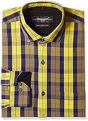 Dennison Men's Formal Shirt (SS-16-399_44_Yellow)