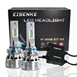 EISENKE i7S 9005/9006 Led Headlight Bulbs auto For Cars Super Bright led bulb Conversion Kit Headlamps 9005/9006 High Beam 40w/low Beam 20W -80W 8,000lm 6000K Cool White (Cool white) (Color: White, Tamaño: 9005/9006)