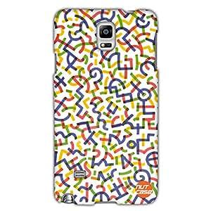 Designer Samsung Note 4 Case Cover Nutcase-Alphabets