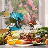 Silikon-Ofenhandschuhe mit Baumwoll-Schutzschicht - hitzebeständige Ofenhandschuhe zum Grillen, Kochen, Backen, wärmeisoliert und wasserfest, 1 Paar Handschuhe mit Fingern