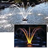Kasco Aerating Fountain with Lights - 1/4 HP, 50-Ft. Cord, Model# 1400JFL050