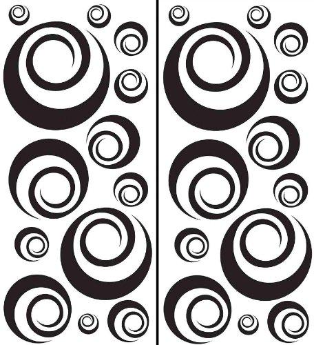 Brewster Wall Pops WPK99062 Peel & Stick Ringlets Wall Art Kit, 2-Sheets