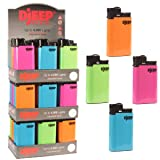 Djeep Lighters - Hot Body 3 36-Count (Color: Neon - Hot Body, Tamaño: 36 count)