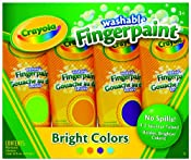 Amazon.com: Crayola 4ct Washable Fingerpaints Secondary: Toys & Games