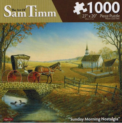 "The Art of Sam Timm ""Sunday Morning Nostalgia"" Jigsaw Puzzle"