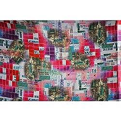 Triveni GEORGETTE Fabrics (TSFD005_ANTIQUE WHITE)