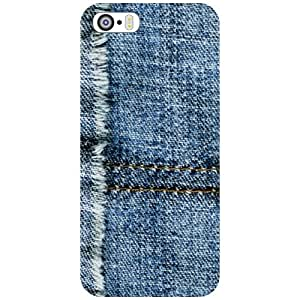 Printland Jeans Print Phone Cover For Apple iPhone 5S