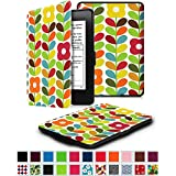 Fintie SmartShell Case for Kindle Paperwhite - The Thinnest and Lightest Leather Cover for All-New Amazon Kindle Paperwhite (Fits All versions: 2012, 2013, 2014 and 2015 New 300 PPI), Child's Garden