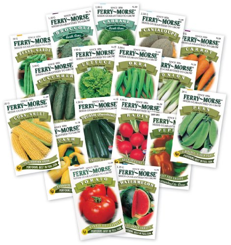 Ferry Morse Large Vegetable Garden, 17 - Piece Set