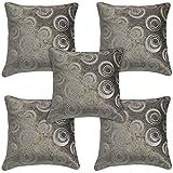 Idrape Velvet 5 Piece Cushion Cover Set- Beige, 40 Cm X 40 Cm - B013UCQ8PA