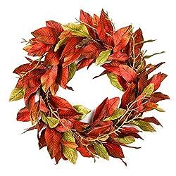 Magnolia Leaf Wreath, 24