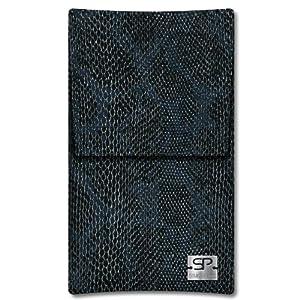 SIMON PIKE Hülle Case Sidney 01 schwarz für Sony Xperia Z1 Compact aus Kunstleder Schlange