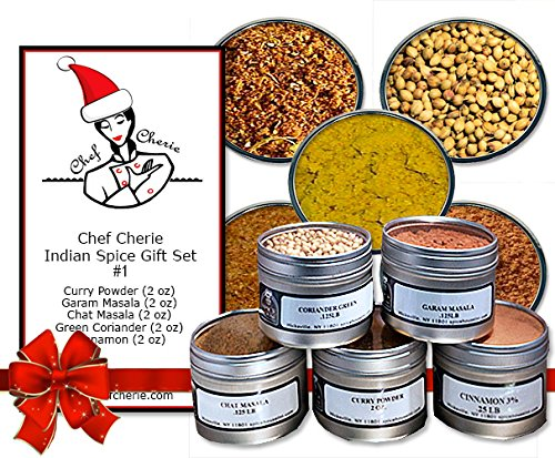 Chef Cherie's Indian Spice Gift Set #1 – Contains 5 2 oz. Tins image