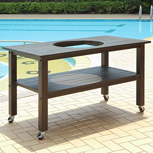 Table for Large Duluth Forge Ceramic Charcoal Kamado Grill and Smoker (Little Joe Smoker compare prices)
