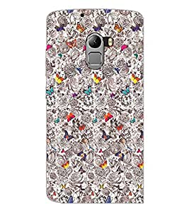 PrintDhaba Butterflies D-2040 Back Case Cover for LENOVO VIBE K4 NOTE (Multi-Coloured)