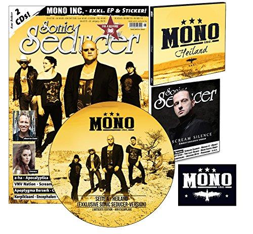 Sonic Seducer 05-2015 ltd. Edition mit Titelstory + exkl. Picture-Vinyl von Mono Inc. (499 Ex.) + 2 CDs, u.a. eine exkl. EP zum Album Terlingua von Mono Inc. + Sticker, Bands: VNV Nation u.v.m.