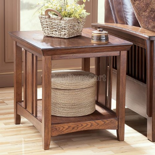 "Cheap ""Famous Collection"" Rectangular End Table in DarkBrown Finish (T535-3)"
