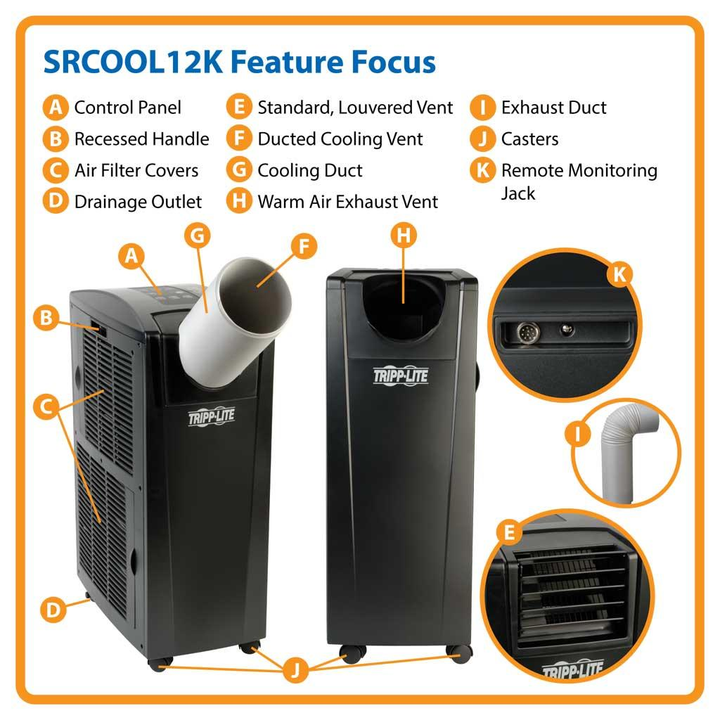 srcool12k portable ac unit wiring diagram tempstar ac unit wiring diagram amazon.com: tripp lite srcool12k portable cooling / air ...