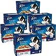 Felix Tendres Effil�s en gel�e Repas pour chat adulte Viandes 12 x 100 g - Lot de 6 (72 sachets fraicheurs)