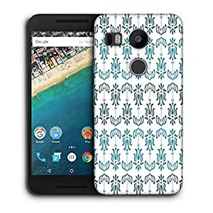 Snoogg Opposite Pattern Blue Printed Protective Phone Back Case Cover For LG Google Nexus 5X