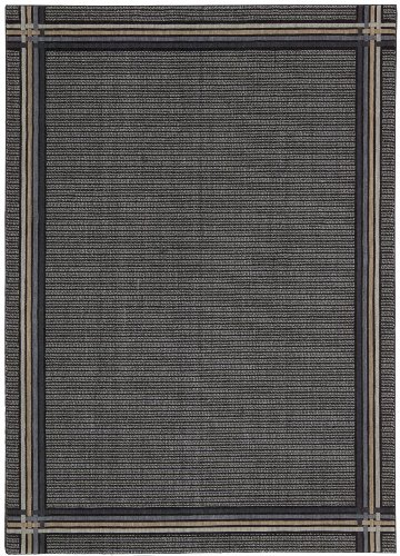 Joseph Abboud GRI01 Griffith Rectangle Machine Made Rug, 2.3 by 7.5-Feet, Midnight