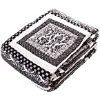 Black and White Quilted Throw