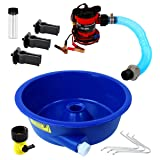 Blue Bowl Concentrator Kit with Pump, Leg Levelers, Vial - Gold Mining Equipment (Color: Blue)