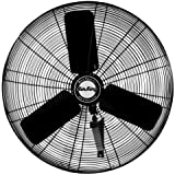 Air King 9035 30-Inch Industrial Grade Oscillating Wall Mount Fan, 1/4-Horsepower, Black Finish