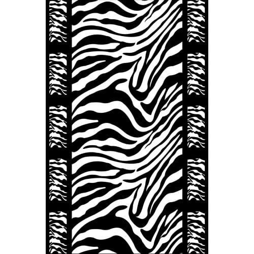 Amazon.com : Perfect Litter Mat - Black & White Zebra