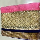 Riya Fashion New Designer Fancy Navy Blue Lycra Partywear Wedding Saree Sari