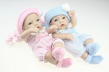 """Terabithia Mini 11"""" Realistic Reborn bébé Poupées Full Silicone Vinyl Collectible Jumeaux"""